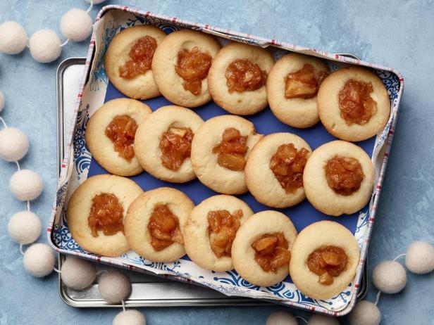 Фото Печенье с яблочным вареньем