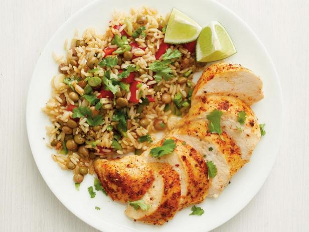 Фотография блюда - Курица с рисом по-карибски в мультиварке
