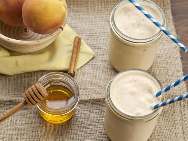 Фотография блюда - Смузи со вкусом персикового пирога