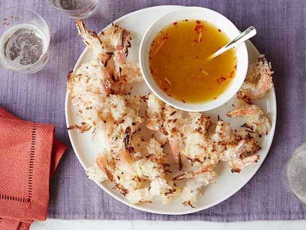 Фотография блюда - Кокосовые креветки в духовке