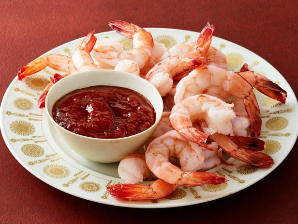 Фотография блюда - Коктейль из креветок с острым имбирным соусом
