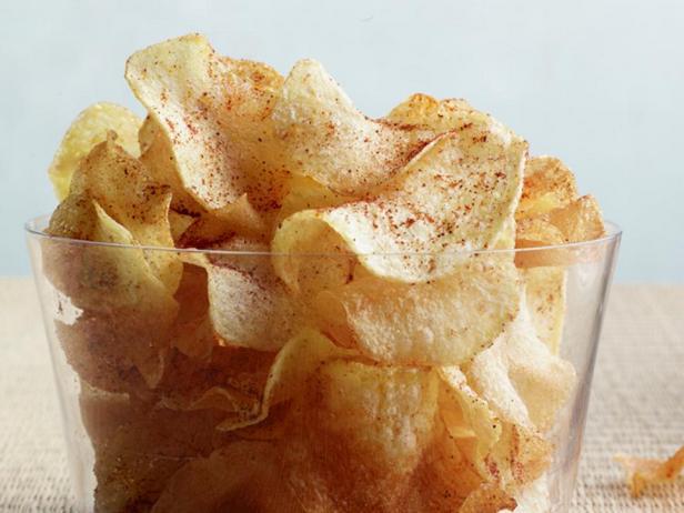 Фотография блюда - Острые картофельные чипсы