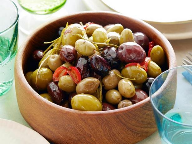 Фотография блюда - Печёные острые оливки