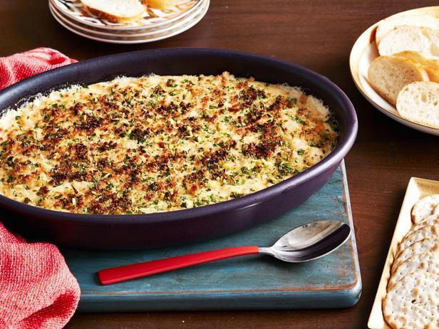 Фотография блюда - Кремовый дип с креветками скампи