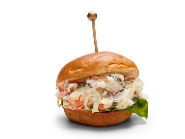 Фотография блюда - Мини-сэндвичи с креветками