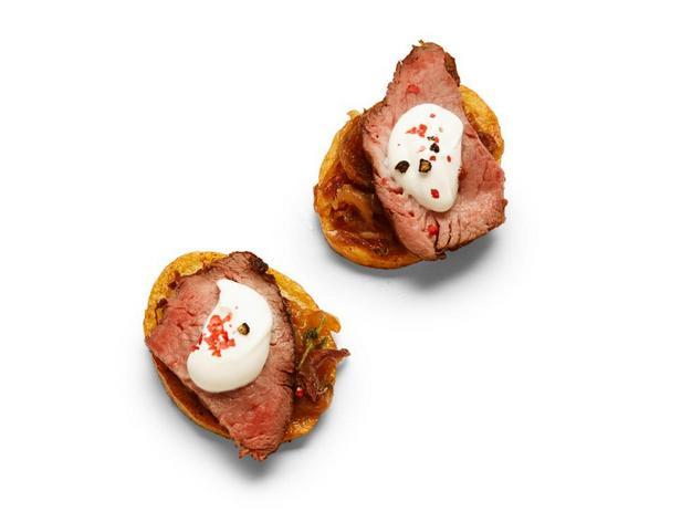 Фотография блюда - Картофель с перечным стейком