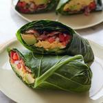 Палео-буррито в капустных листьях (палеодиета)