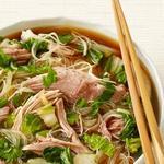 Рисовая лапша со свининой в медленноварке