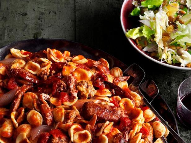 Фото блюда - Воскресный мясной соус с пастой орекьетте