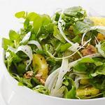 Салат из ранней зелени с апельсинами