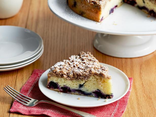 Фотография блюда - Черничный пирог со штрейзелем