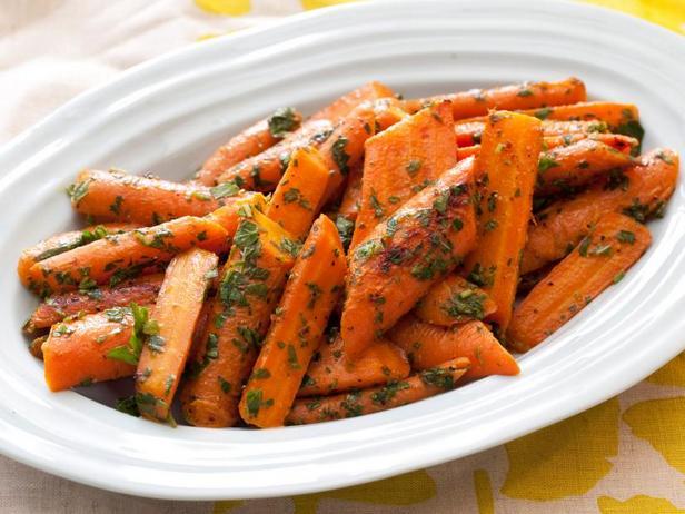 Фото Глазированная морковь с мятной гремолатой
