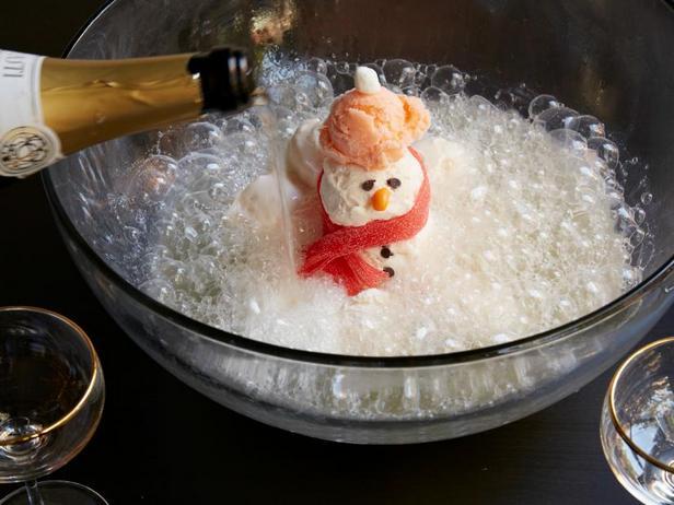 Фото Пунш со снеговиком