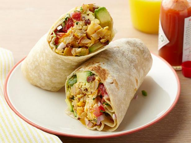 Фотография блюда - Буррито на завтрак