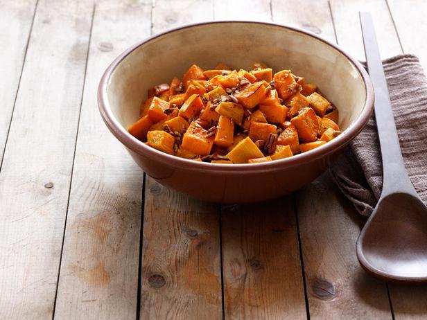Фотография блюда - Печёный батат с пеканом