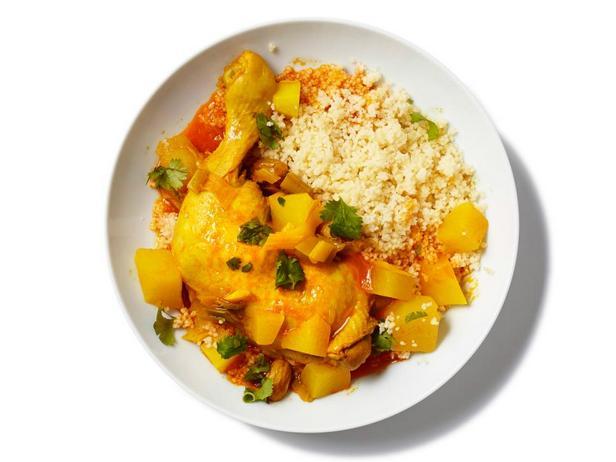 Фотография блюда - Курица в мультиварке с тыквой по-мароккански