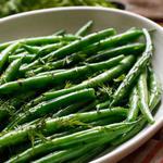 Зелёная фасоль в глазури из соевого соуса