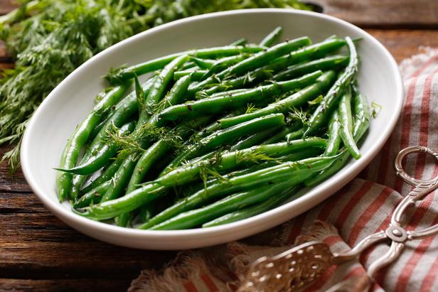 Фото Зелёная фасоль в глазури из соевого соуса