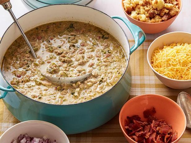 Фотография блюда - Белое чили из индейки