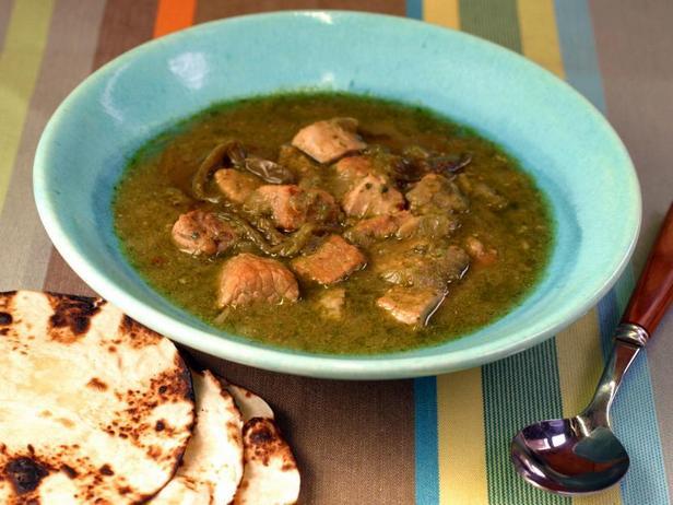 Фотография блюда - Зелёный чили со свининой