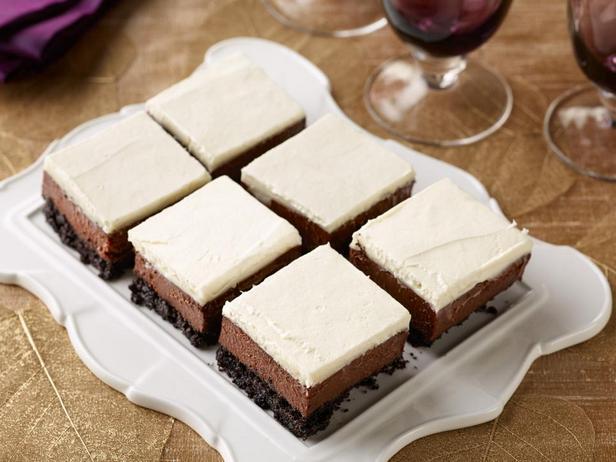 Фотография блюда - Шоколадно-мятный чизкейк