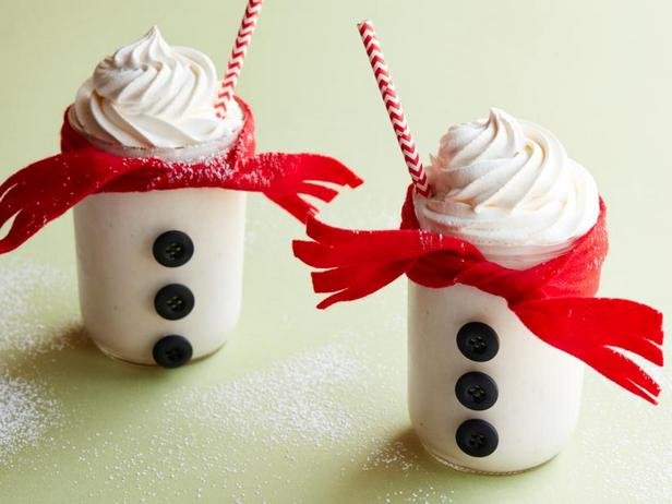Фото Банановый молочный коктейль «Снеговик»