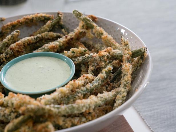 Хрустящая зелёная фасоль в духовке