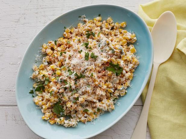 Кремовая кукуруза с перцем чили и лаймом