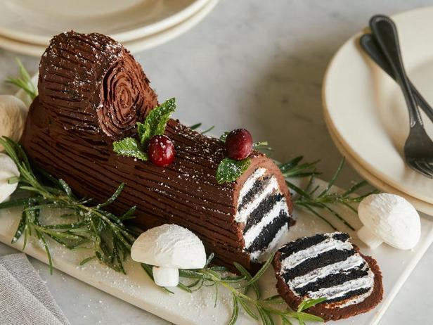 Торт без выпечки Рождественское полено