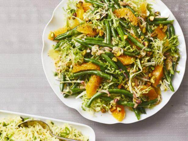 Салат из зелёной фасоли с апельсинами