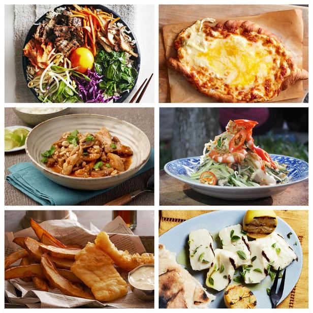Фото Блюда для вечеринки из разных кухонь мира