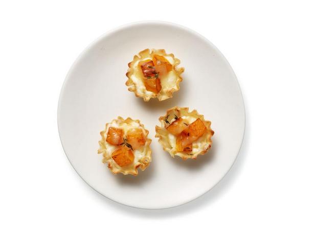 Корзиночки из теста фило с творожно-тыквенной начинкой