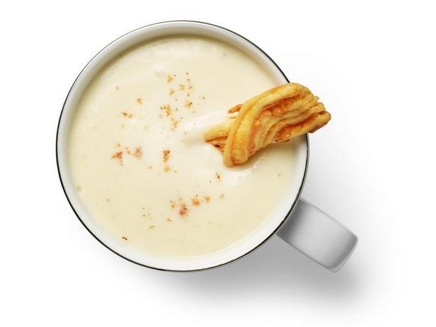 Крем-суп из цветной капусты с чеддером