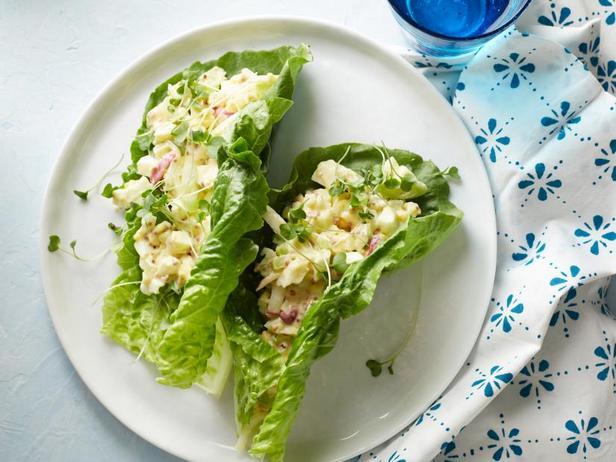 Фото Яичный салат в лодочках