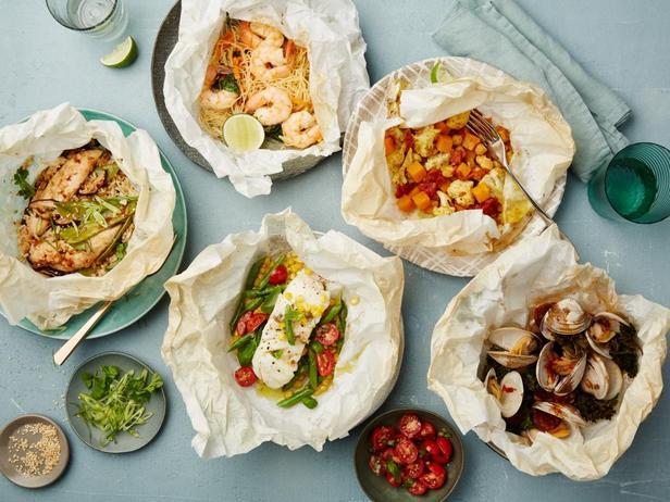 Фото Здоровые блюда, запеченные в пергаменте, 5 рецептов