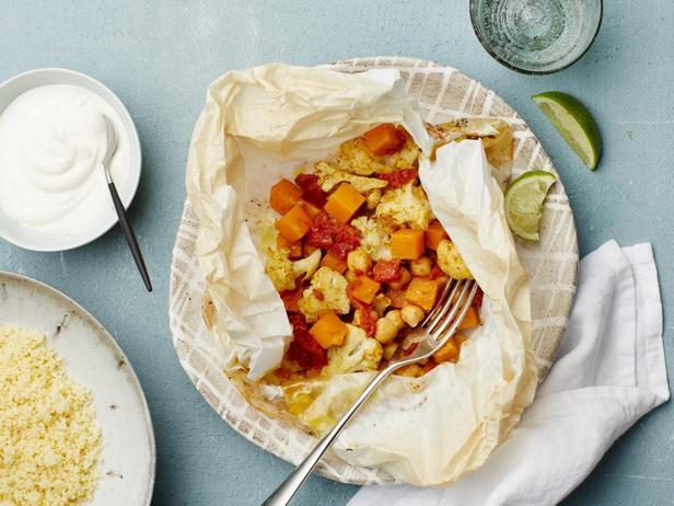 Овощной карри с кускусом