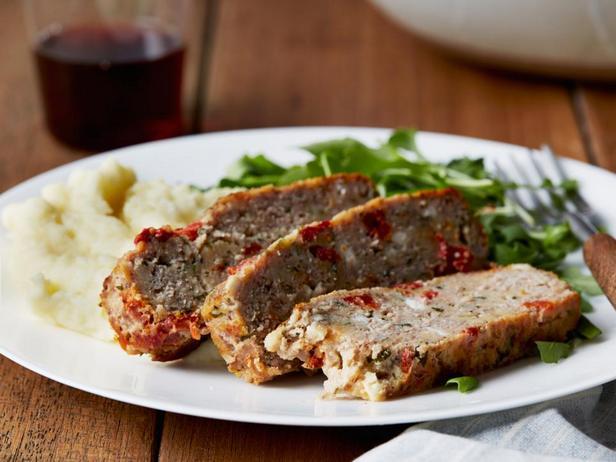 № 43: Мясной хлеб из индейки с сыром фета и вялеными томатами