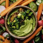 Дип-соус из авокадо и белой фасоли