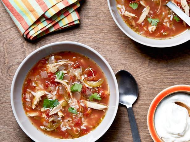 Фото Мексиканский суп с рисом и курицей
