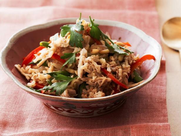 Бурый рис с курицей и овощами