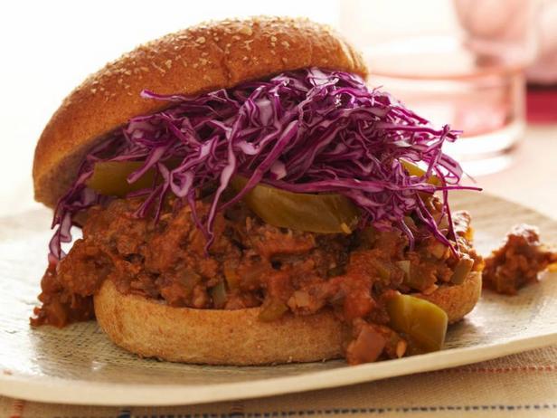 Фото Веганский бургер «Неряха Джо» с хрустящим топпингом