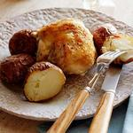 Курица в духовке с картофелем и розмарином