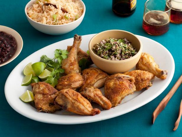 Фото Запечённая курица с острым перцем и тыквенными семечками