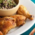 Запечённая курица с острым перцем и тыквенными семечками