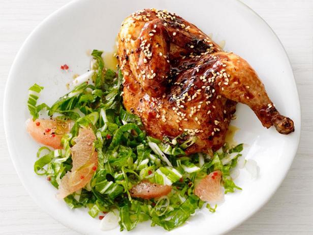 Цыплята терияки с капустой бок-чой