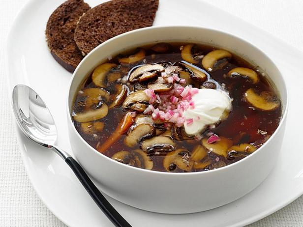 Грибной суп с тмином