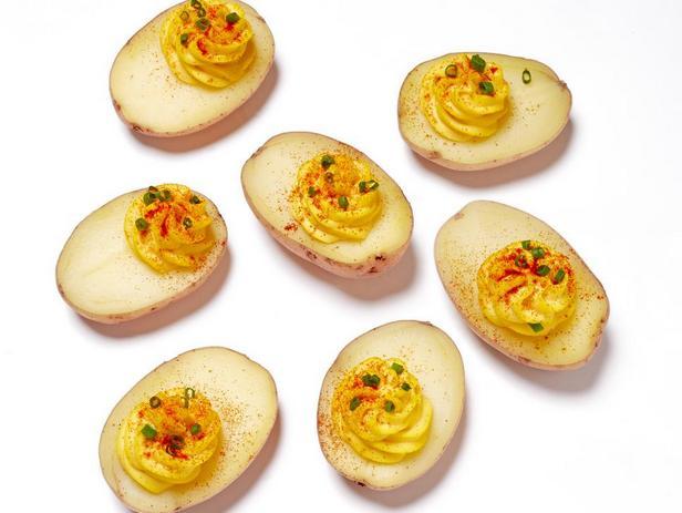 Картофель с яичной смесью