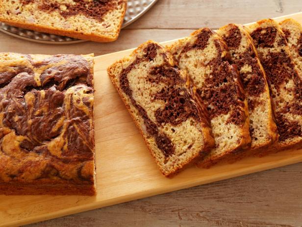 Фото Мраморный банановый хлеб