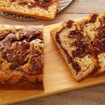 Мраморный банановый хлеб