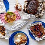 Здоровые блюда на гриле в конвертах из фольги